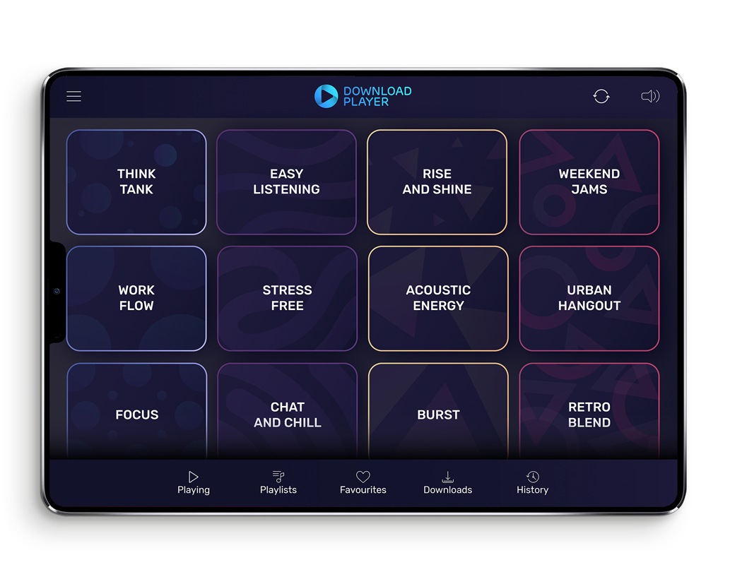 Download Player - The flexible solution for Luxury background music